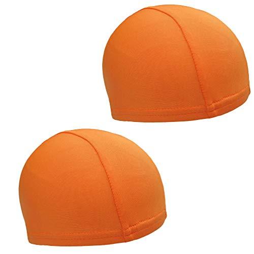 Boné BESPORTBLE com forro de capacete 2 peças, forro respirável de secagem rápida, confortável, boné esportivo de equitação para mulheres que correm (laranja)