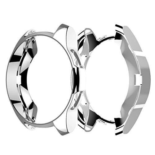 Hemobllo kompatibel mit Samsung smart Watch 42mm weiches TPU stoßfest rundum Schutz stoßstangenkoffer uhrenschutz rahmenabdeckung für samsunggear s3 (Silber)