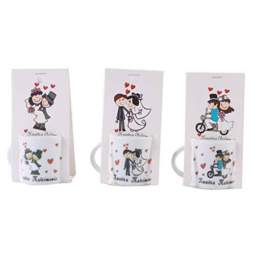 Taza Frases Nuestra Boda, presentada en Blister de cartón - Originales tazas para invitados de bodas Mug para detalles de bodas