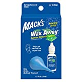 Mack's Wax Away Earwax Removal System - 0.5 FL OZ Ear Drops with Ear Syringe...