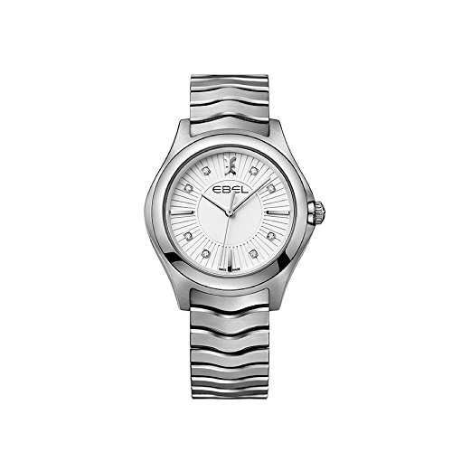 Ebel Damen Datum klassisch Quarz Uhr mit Edelstahl Armband 1216302