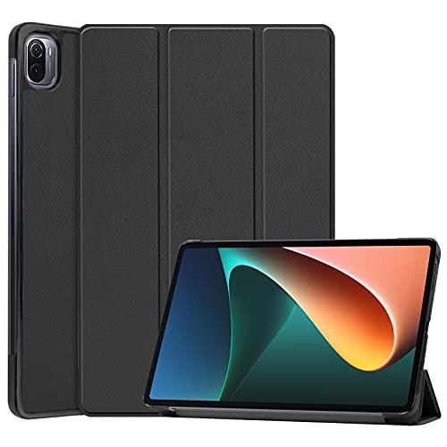 Hülle für Xiaomi Mi Pad 5 - Schutzhülle Tasche mit Auto Einschlafen/Aufwachen, Ultra Dünn PU Leder Schutzhülle Passt für Xiaomi MiPad 5 / 5 Pro / 5 Pro 5G Tablet (Schwarz)