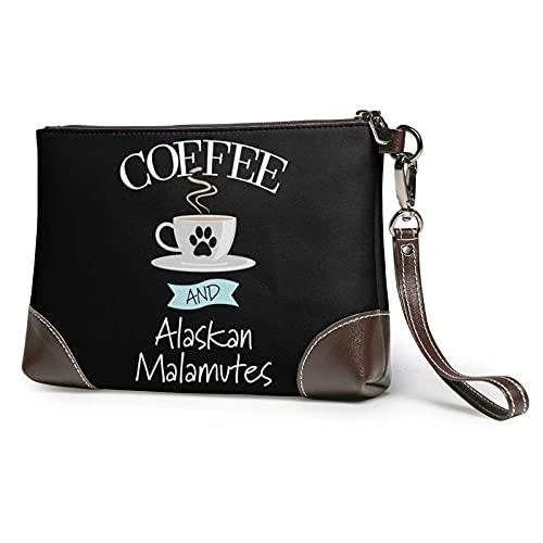 XCNGG Clutch Handtasche Leder Alaskan Mala-Mutes Umschlagtasche Brieftasche und Tragetasche Schminktasche Damen Mädchen