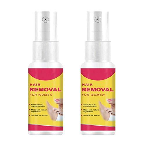 2PCS 50ML Afeitado en aerosol para depilación natural para el cuidado del cuerpo del brazo y la pierna para hombres y mujeres, para el cuidado del cuerpo de la cara/brazos/piernas/espalda para h