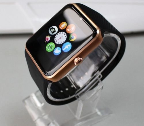 Smart Watch Smartwatch GT08 Bluetooth Orologio Cellulare GSM SIM per ASUS ZENFONE 2, ZENFONE 3, DELUXE, ZOOM, GO, SELFIE, LASER, MAX nero e gold