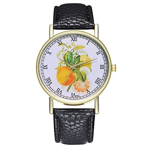 WHEatch Reloj de Pulsera Reloj de Mujer con diseño de Fruta a la Moda, factores Populares Actuales, Temperamento de Mujer de Reloj, minimalismo Femenino
