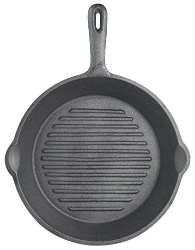 Kitchen Craft KCCIRD Clearview - Sartén Parrilla Redonda de Hierro Fundido (24cm)
