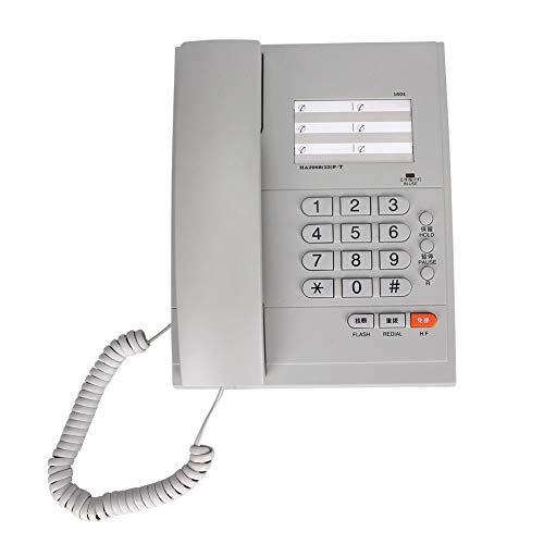 Topiky snoergebonden telefoon, vaste telefoon met vaste aansluiting, handsfree-functie, plaatsen, keuze herhaling en pauzefunctie voor kantoor en thuis