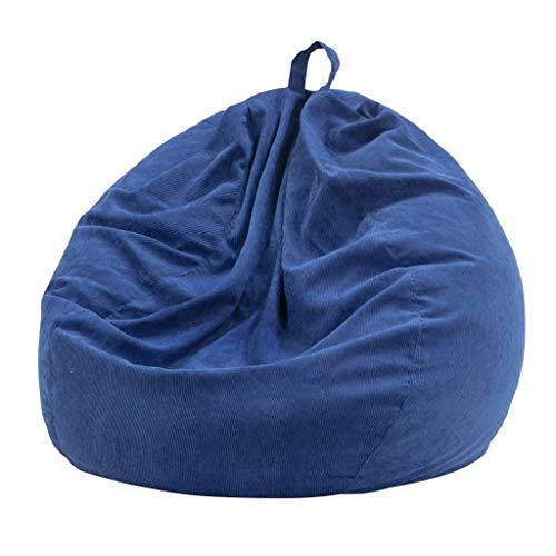 JJZXT Sofás Perezosos de 7 Colores, Fundas para sillas con Forro Interior, sillón de Pana cálido, Bolsa de Frijoles, puf, sofá, Tatami, Sala de Estar (Color : B, Size : 120CM)