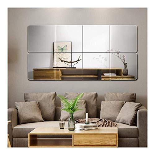 GOY ramlösa speglar i full storlek, badrum sovrum bästa dekor för vardagsrum omklädningsrum film anti-explosion 4 pack S väggmonterad AN1017 (storlek: 30 cm x 30 cm)
