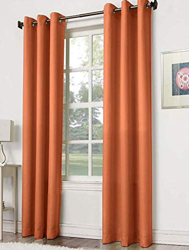 """Empire Home Solid Reflection Thermal Blackout Curtains - Overstock Sale!! (Rust, 63"""" Short)"""