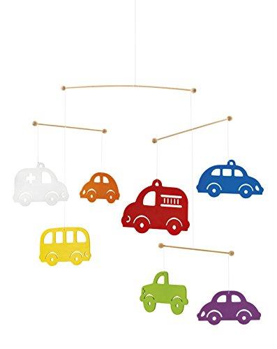 Selecta 60003 Bunte Autos Mobile, Holzmobile, 50 cm, mehrfarbig
