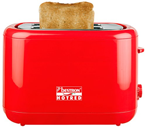 Bestron ATS300HR Toaster, Hot Red
