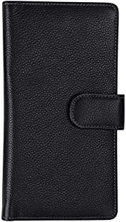 Travel Wallet Genuine Leather Long Bifold I Passport Card And Boarding Pass Holder Cover Case I For Men Women Family By Sa...