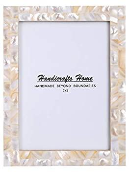 New Real Handmade Black White Bone Photo Picture Vintage Imported Chic Frame Made to Display Pictures 5x7 Pearl