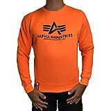 Alpha Industries Pullover Basic rot Olive schwarz weiß grau blau gelb (M, Neon/Orange)