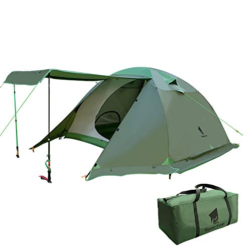 cold weather tents for campings GEERTOP Camping Tent 4 Person 4 Season Waterproof Double Layer Backpacking Family Camp Tent for Outdoor Survival Travel
