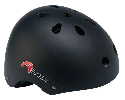 Apex BMX Helmet - Matt Black, 54-58 cm