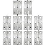Conectores de bisagras para vitrina, 10 piezas Bisagras de puerta de 2.5 pulgadas bisagra de puerta...
