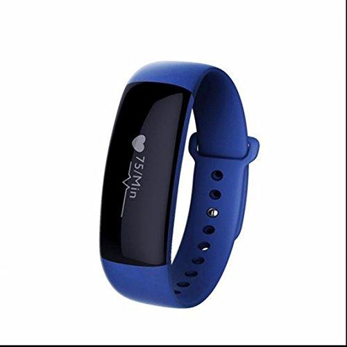 Smart Fitness Tracker Armbänder,Blutdruckmessung und Pulsuhren Bluetooth Wristband mit Schlafanalyse,Kamera-Fernsteuerung,Wecker für iPhone Samsung iOS und Android Smartphones