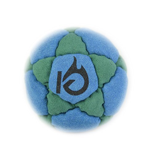 KickFire StarSacks Sand Filled Hacky Sack Leather Footbag 32 Custom-Made Panels for Kids, Teens, and Adults Available in Six Colors