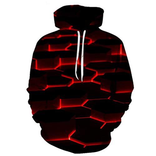 Ken-Rostisy Sudaderas con Capucha de impresión Digital de gradiente 3D otoño Sweatshirt Sportswear WY-465 4XL