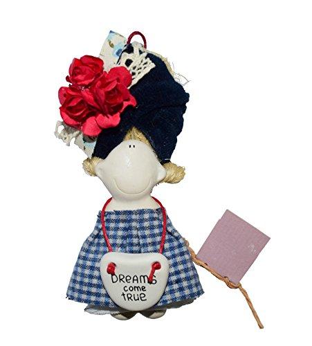 Duvo Organic Handmade Mini Doll MUSE Refrigerator Magnets Best Gift for Mom & Girl & Friends-Souvenir dolls Kitchen Fridge Magnet All Natural Materials w/Magnet