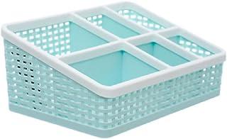 SCDZS Panier de rangement salon multifonctionnel plastique bureau bureau boîte de rangement cosmétique panier de rangement...