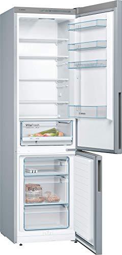 Bosch KGV39VLEA Serie 4 Freistehende Kühl-Gefrier-Kombination / A++ / 201 cm / 237 kWh/Jahr / Inox-look / 248 L Kühlteil / 94 L Gefrierteil / LowFrost / VitaFresh