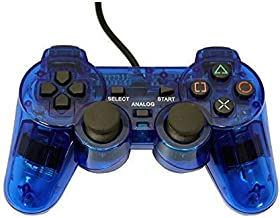 Playstation 2 Wired Replacement Controller - Transparent Blue - by Mars Devices