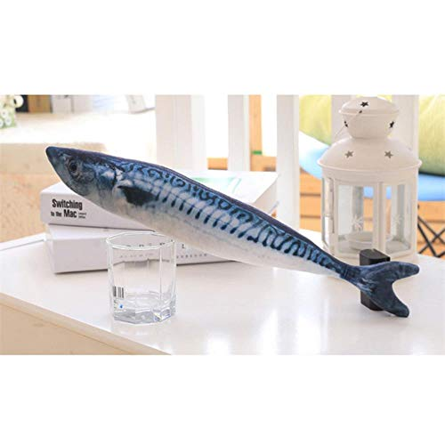 BVYO Simulation Künstlicher Fisch Plüsch Haustier Katze Welpe Hundespielzeug Schlafspielzeug Katze Minze Katzenminze Spielzeug Niedliches Aquarium Dekoration, Typ 6, eine Größe