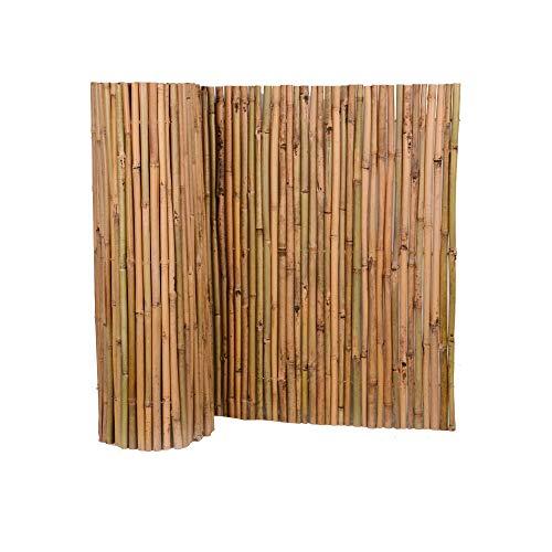 Nature by Kolibri Sichtschutz aus Bambus 90x500cm, Bambusmatte Sichtschutzmatte Windschutz Zaun für Garten Balkon Terrasse