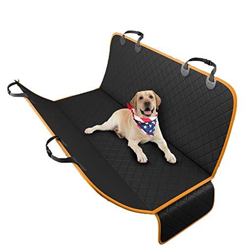 ZWW Stoelhoes voor huisdieren, waterdicht, antislip, gemakkelijk schoon te maken hondenreis, hangmat voor achterbank, geschikt voor auto/SUV/kofferbak