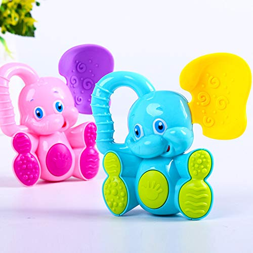 Fantastic Deal! ocijf179 Cute Deer Elephant Animal Baby Rattle Hand Grip Bell Developmental Teething...