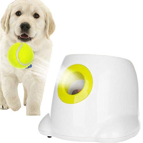 WUFENG Hundespielzeug Tennis Launcher, 3 Levels Dog Ball Thrower Machine, lustiges Hundesuchspielspielzeug zum Trainieren und Spielen