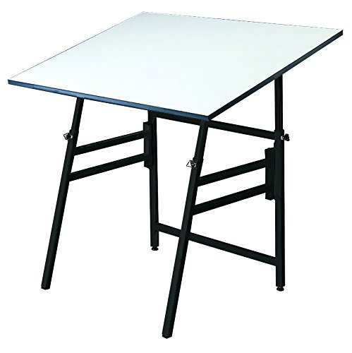 "Alvin, XI-3-XB, White Top Table, Black Base - 31"" x 42"""