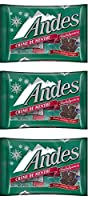 Andes Creme De Menthe Mints Festive Christmas Holiday Candy Pack of 3 9.5 oz [並行輸入品]