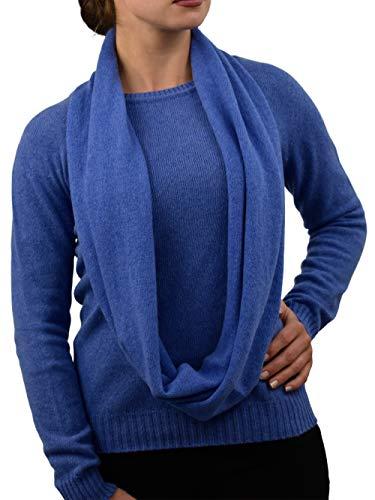 DALLE PIANE CASHMERE - Geschlossener Schal aus 100% regeneriertem Kaschmir - für Frau, Farbe: Hellblau, Einheitsgröße