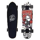 Skateboard Cruiser para Adulto 27in Monopatin Completa para Principiantes y Pro 7 Capas de Arce Doble Patada Cóncava Tablas de Skateboards Surfskate de Carver con rodamientos ABEC-9