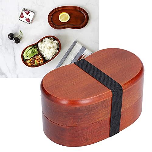 Bento Box in legno in stile giapponese, contenitore per il pranzo a forma di vita a doppio strato Contenitore per alimenti per sushi per uomo, donna e ufficio per adulti
