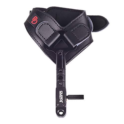 SunniMix Tiro con l  Compound Rilascio Triggrt Figrt Grip Pollice Calibro Tiro con L  da -Cinturino da Polso Regolabile - Nero