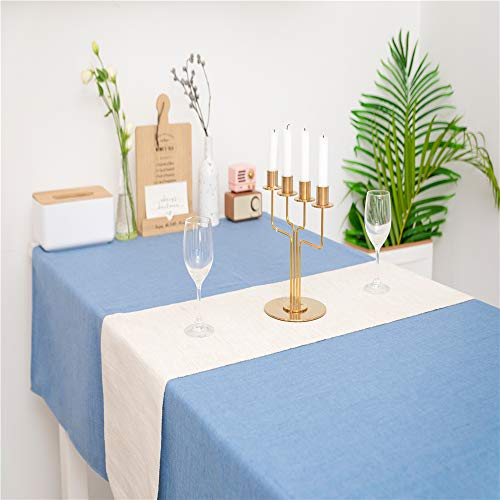 WOMGF Tischdecke Abwaschbar Fleckschutz Tischdecke für Esszimmer Party Dekoration Blau 130 * 170cm