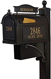 Whitehall 16303 Aluminum Ultimate Mailbox Package in Bronze