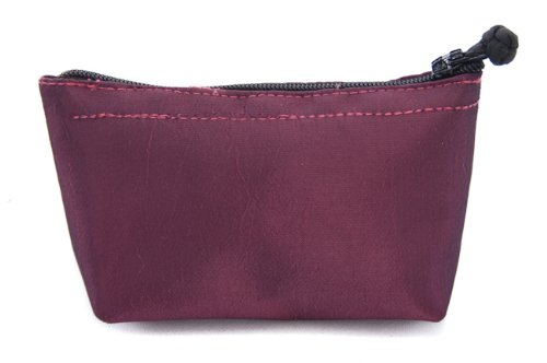 Seek Unique Ruby Satin Geldbörse Make Up Tasche klein