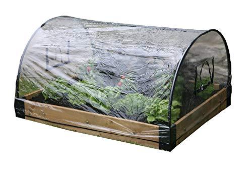 Haxnicks Glasglocke im bed010103Hochbeet Wetter Schutz Poly, weiß, 120x 100x 50cm