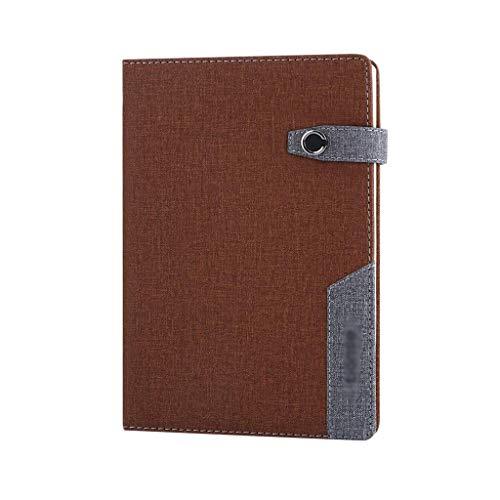 aedouqhr Bloc de Notas, Cuaderno, Diario, Diario de Piel sintética magnética, 100 páginas Forradas, Diario Personal de Viaje, para Hombres y Mujeres, de Office Bloc de Notas (Color: marrón)