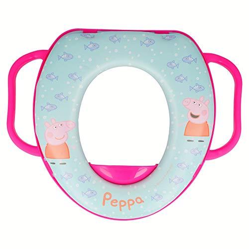 Brigamo Peppa Wutz Kinder Toilettensitz, Kinder WC Sitz mit Haltegriff
