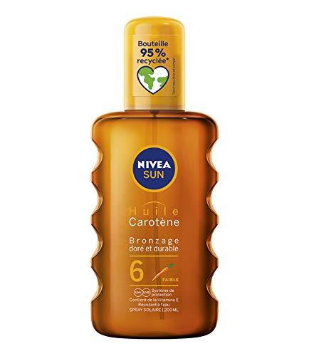 Nivea Huile protectrice, bronzage doré et durable - Le spray de 200ml