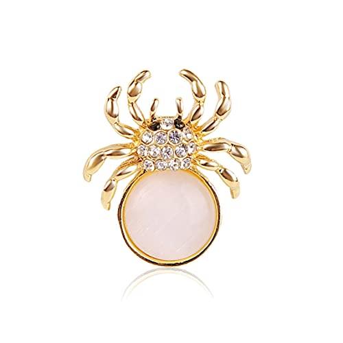 Zhang-StrongAn Broches de araña Vintage de Moda para Mujer, Broche Grande de Insectos, Vestido de Moda, joyería Bonita
