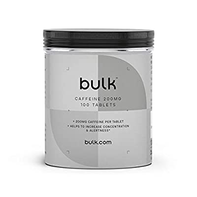 BULK POWDERS Caffeine Tablets, 200 mg - Pack of 250